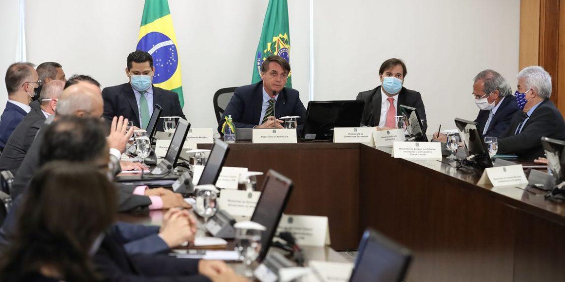 (Brasília - DF, 20/05/2020) Videoconferência com Governadores dos Estados. Foto: Marcos Corrêa/PR