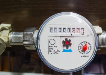 Water meter. Counter for distribution water.