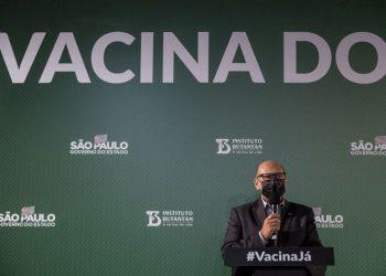 País tem vacinas contra o coronavírus para imunizar apenas 65% de sua população, considerando apenas as doses com contrato assinado pelo Ministério da Saúde (Foto: AP Photo/Carla Carniel)