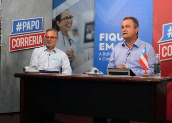 Secretário estadual Fábio Vilas-Boas e o governador Rui Costa